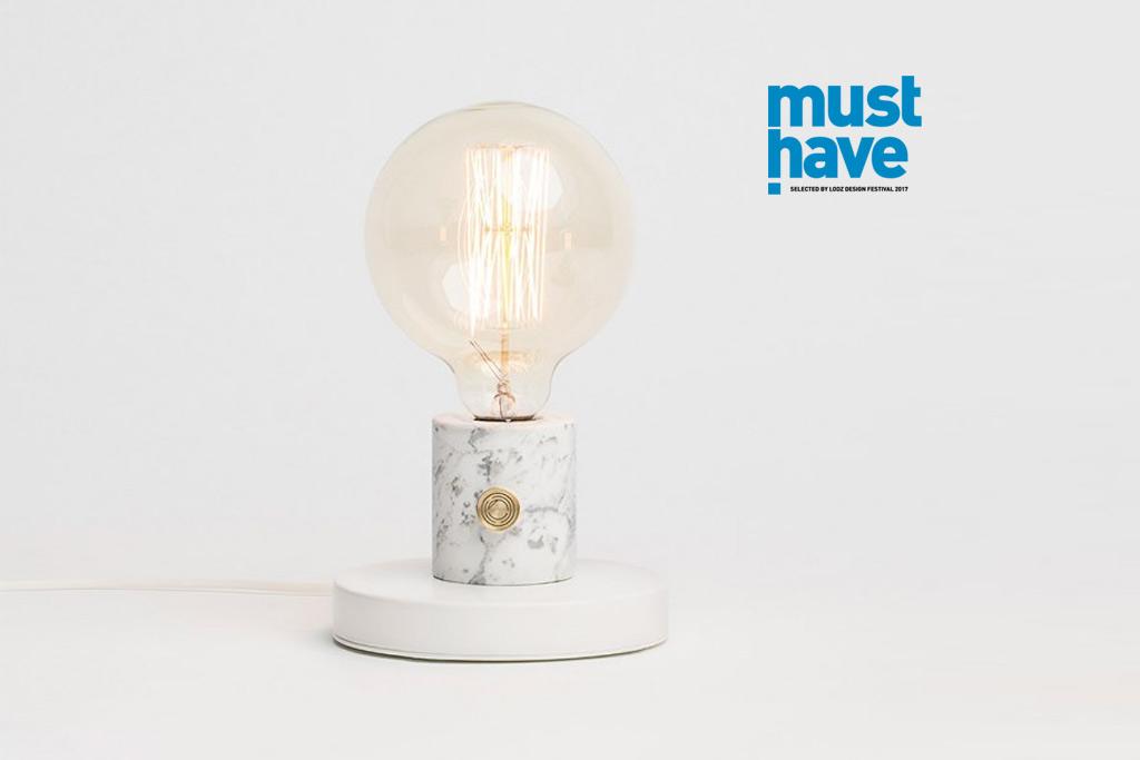 lampa stołowa marmurowa