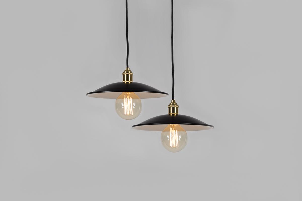 lampa czarna złota