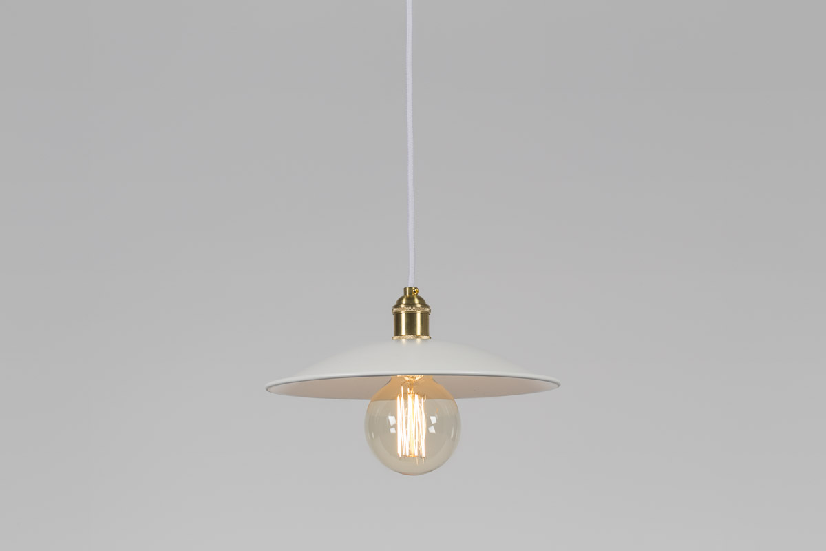 lampa biało złota wisząca