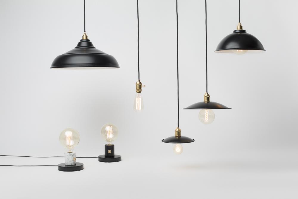 lampy retro czarne